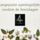 aangepaste openingstijden 4 Your Hair Zutphen feestdagen 2019