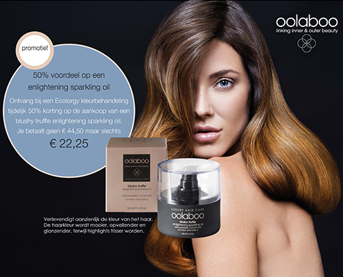 actie januari 2020 color promo Oolaboo 4 Your Hair Zutphen