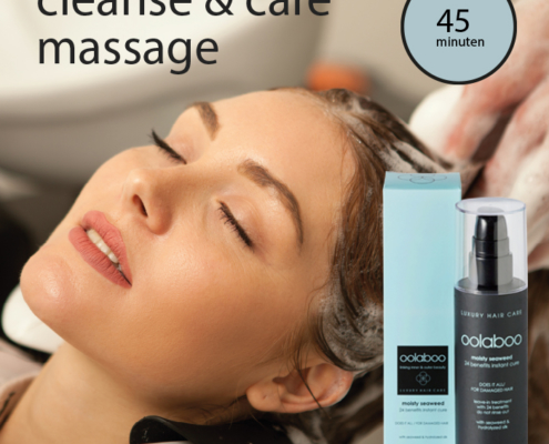 cleanse ans care massage van Oolaboo actie bij 4 your hair Zutphen
